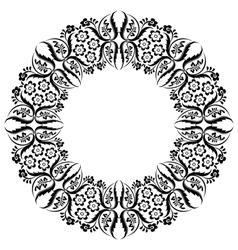 Black oriental ottoman design thirteen vector