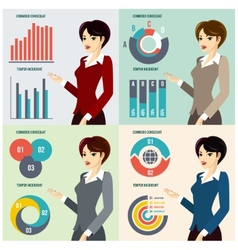 Business woman presenting proposal vector