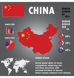 China Country Infographics Template vector image