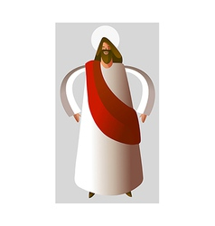 Close-up of Jesus Christ standing vector image vector image