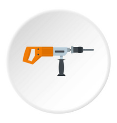 Electric drill perforator icon circle vector