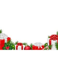 Gift border vector
