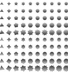 Grey deformed polygon shape collection vector