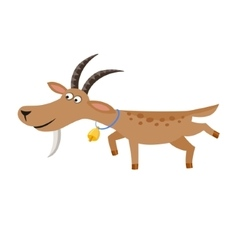 isolated goat with gold vector image