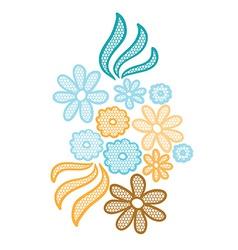 Lace flower applique vector