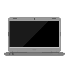 Laptop computer isolated vector image