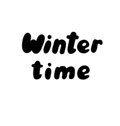 lettering with a phrase Winter vector image