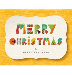 Merry christmas happy new year fun color design vector