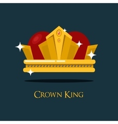 Pope tiara or king queen royal crown icon vector image vector image