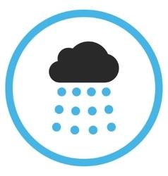 Rain Cloud Flat Icon vector image vector image