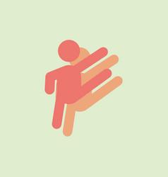 Rhythmic gymnastics design in sticker style vector