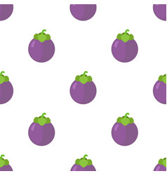 Seamless pattern of tasty mangosteen vector