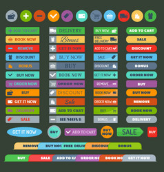 Shop buttons set vector