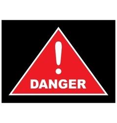 Sign showing danger eps10 vector image vector image
