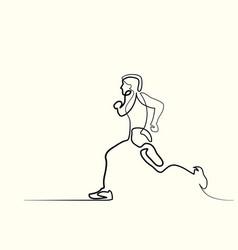 sport running man vector image