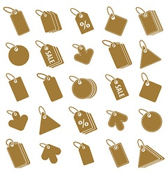 Tag icons isolated on white background set retail vector image vector image