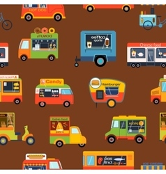 Trailer seamless pattern vector