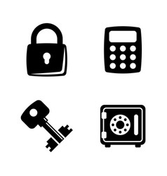 types locks and keys simple related icons vector image vector image