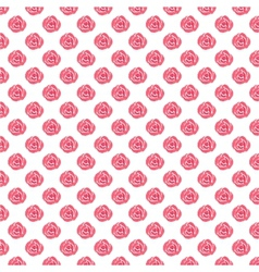 Watercolor seamless pattern with red roses on the vector image vector image