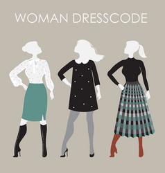 Woman dresscode women in vector