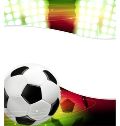 Spotlights and a soccer ball vector