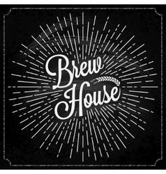 Beer Logo On Chalk Background vector image