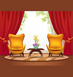 living room cartoon interior vector image
