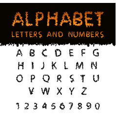 Latin alphabet with scribble texture vector
