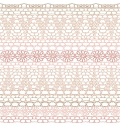 Lace seamless crochet pattern vector