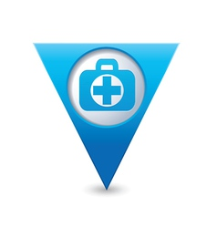 Medical icon pointer blue vector