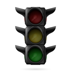 Traffic light off vector