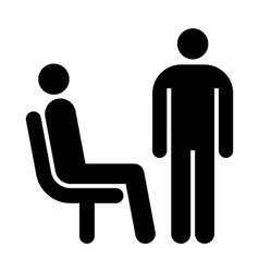Seating and standing man vector