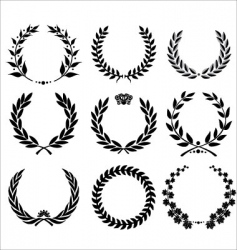 set - laurel wreath vector image