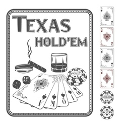 Texas hold em poker vector