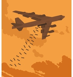 Heavy bomber dropped the bombs vector image