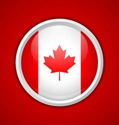 Canadian circular badge vector