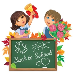 Kids back to school board vector