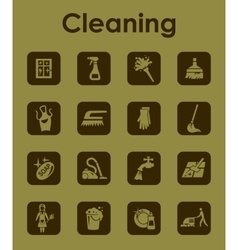 Set of cleaning simple icons vector