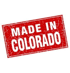 Colorado red square grunge made in stamp vector