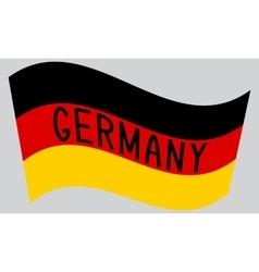German flag waving with word germany vector