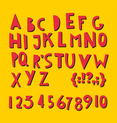 Abc latin letters and numbers vector