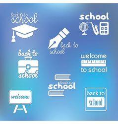 back to school symbols vector image vector image