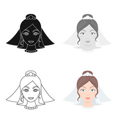 Bride icon of for web and vector