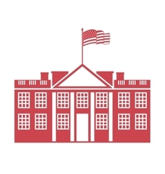 building governmental usa icon vector image