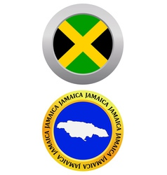 button as a symbol map JAMAICA vector image