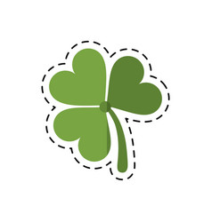 Cartoon st patricks day clover lucky icon vector