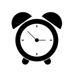 Clock time alarm hour pictogram vector