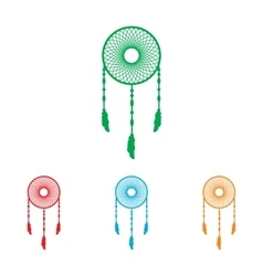 Dream catcher sign vector image vector image