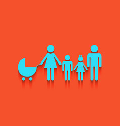 Family sign whitish icon on vector