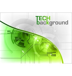 green tech background with line vector image vector image